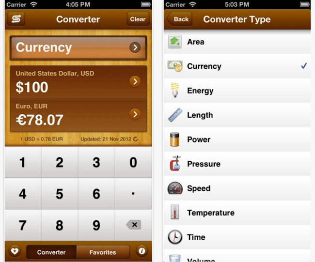 Unit Convert App iPhone