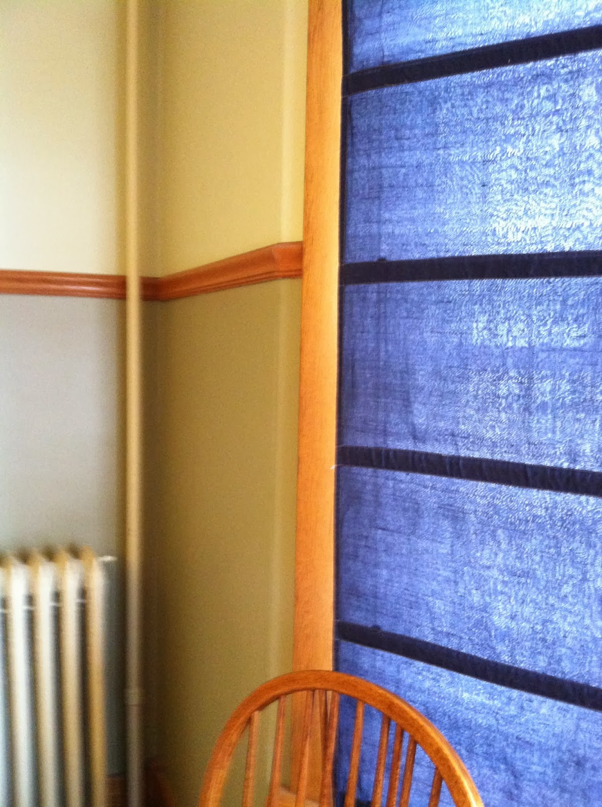 Curtains After Being Dyed with Royal Blue Rit Dye