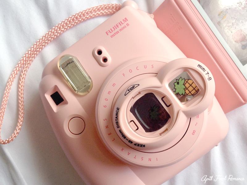 April fool romance pink instax mini 8 polaroid camera review for Instax mini 8 housse