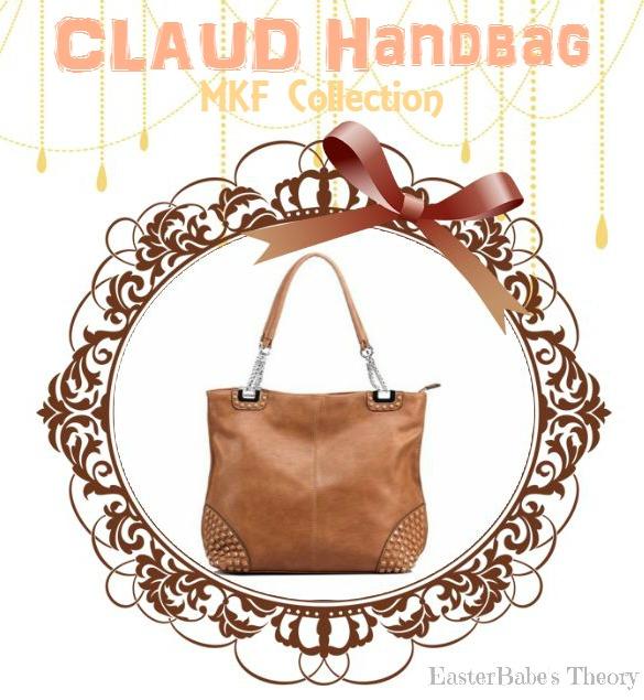 MKF Collection CLAUD Pyramid Stone Shoulder Handbag