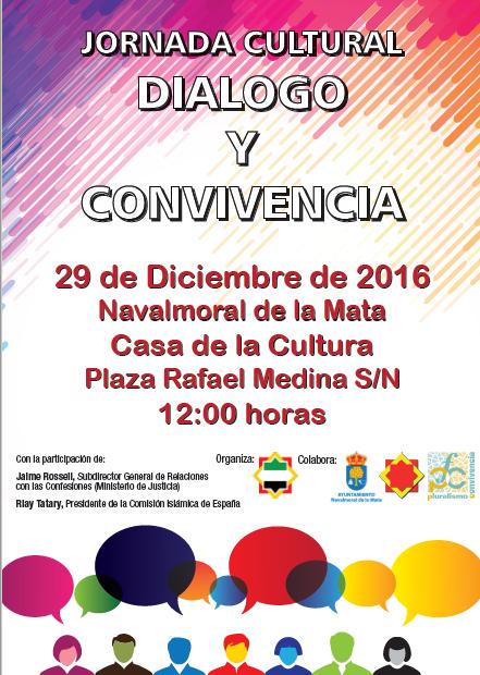"""Jornada de """"Dialogo y Convivencia """" en Navalmoral de la Mata"""