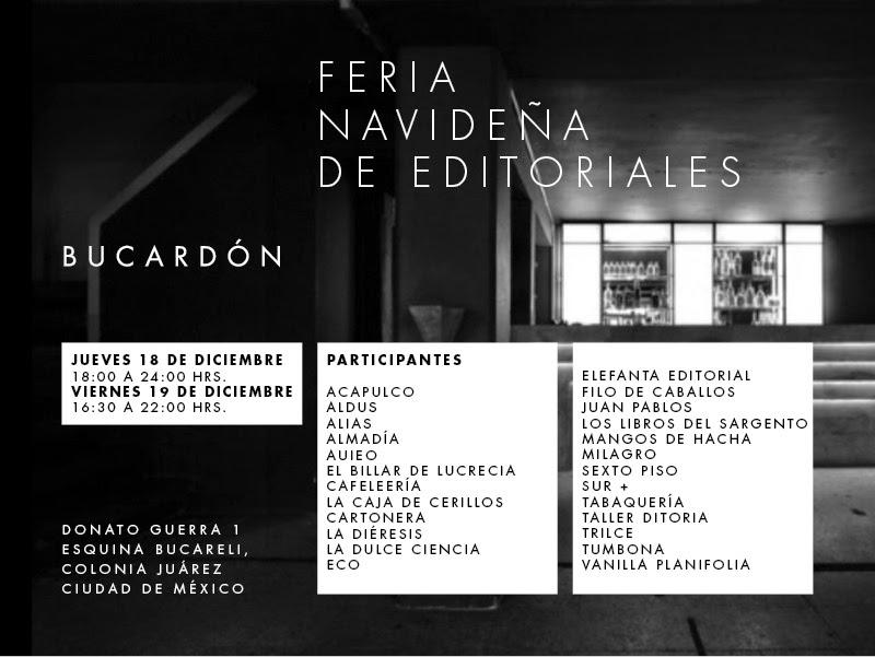 Feria Navideña de Editoriales 2014 en la colonia Juárez