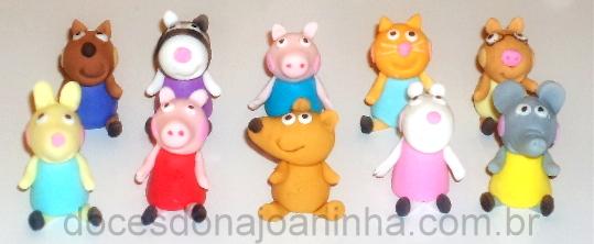 Doces modelados da Peppa Pig e Amigos