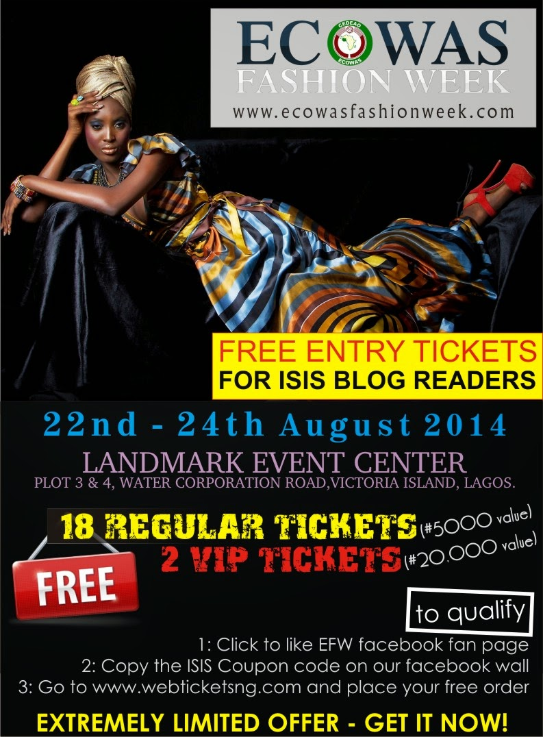 FREE VIP AND STANDARD TICKETS FOR ISIS MODELS BLOG READERS