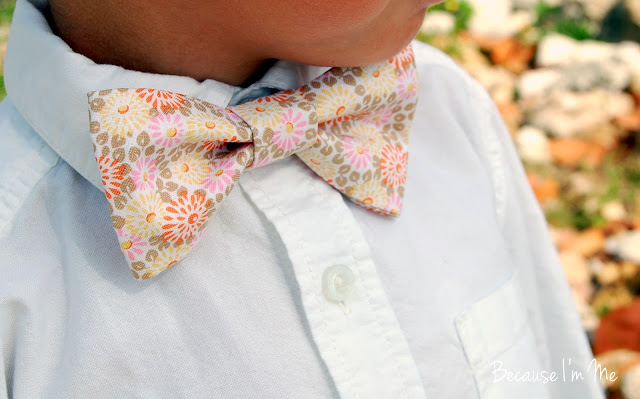 Because I'm Me soft floral boys and mens bow ties, perfect for summer weddings and events
