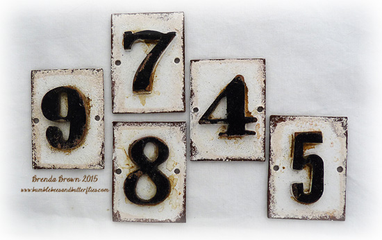 I die-cut rectangles of chipboard and added a hole in each side to take a split pin or brad. I then die cut a number several times using greyboard with my ... & Bumblebees and Butterflies: Numbers (2) for Country View Crafts
