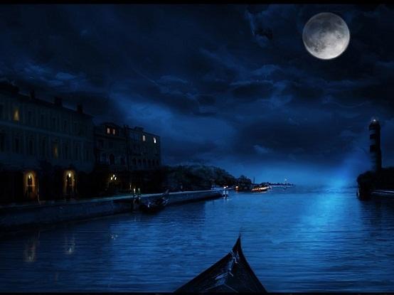 paisaje de noche
