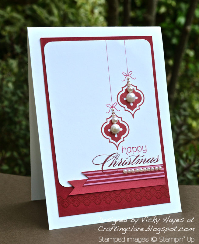 Christmas card stamped with Mosaic Madness by Stampin' Up