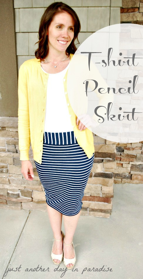 Larissa Another Day: Pencil Skirt From T-shirt: Tutorial