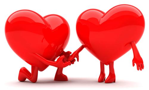 Proposal heart emoticon