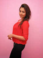 Madhu Shalini glam pics in Red top-cover-photo