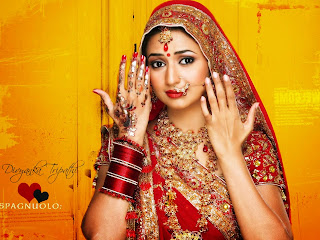 Divyanka Tripathi In Indian Bride Dress Wallpaper.jpg