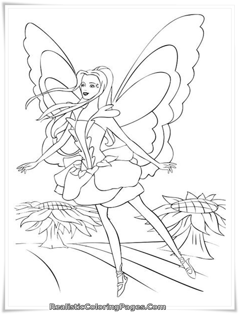 barbie mermadia coloring pages - photo#3