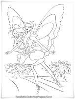 Barbie Fairytopia Coloring Pages Realistic