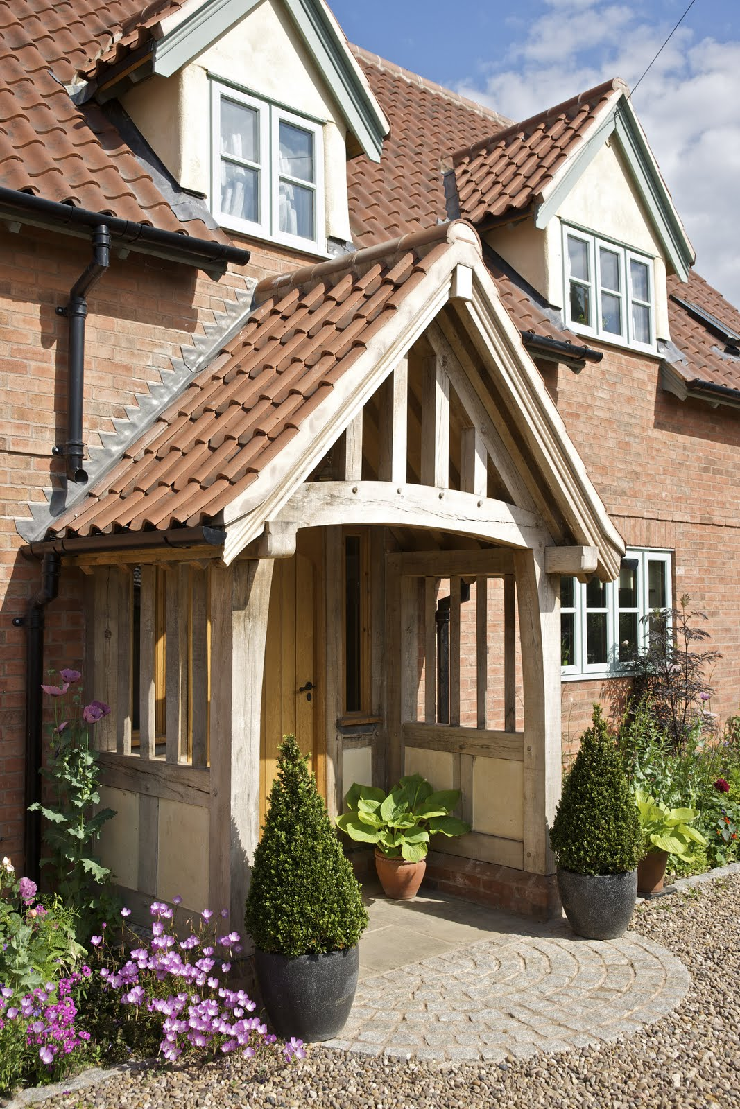 From little acorns the border oak porch for Oak framed house designs