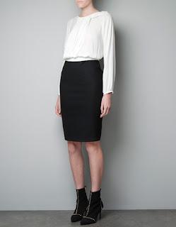 zara siyah beyaz elbise modeli