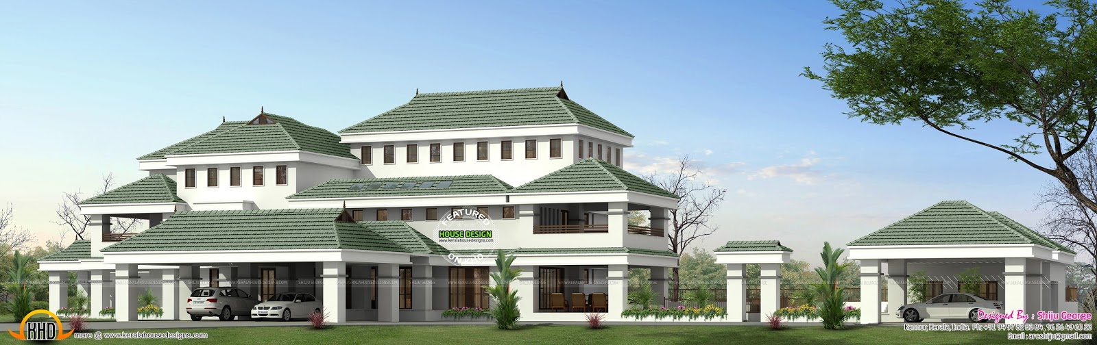 10000 sq ft house plan kerala home design and floor plans for Home plans over 10000 square feet