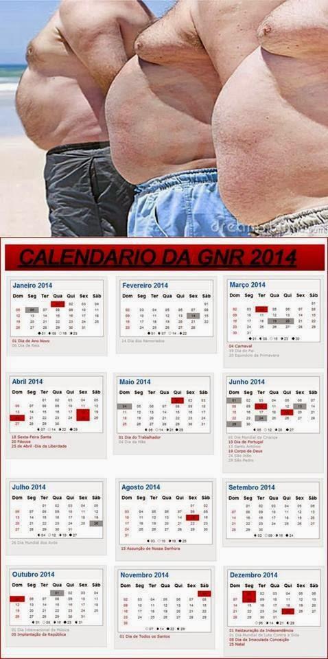 Depois dos Bombeiros, chegou a vez da GNR mostrar o seu calendário 2014