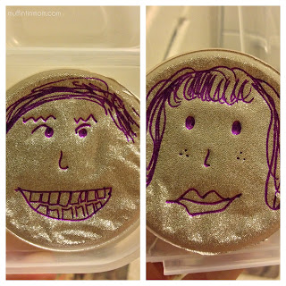 Be Brave Keep Going Draw Silly Faces On Applesauce Cups