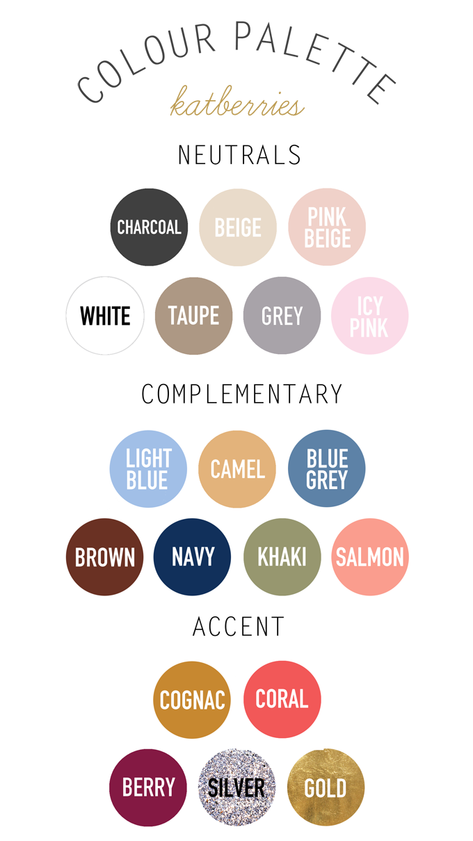 neutrals, complementary, accent