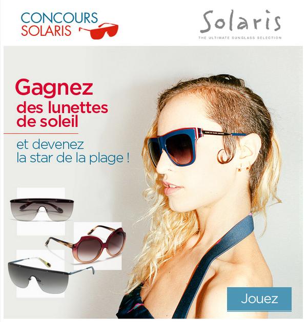 Jeux concours Elle Solaris 30 paires de lunettes de soleil à gagner bon plan lunettes de soleil