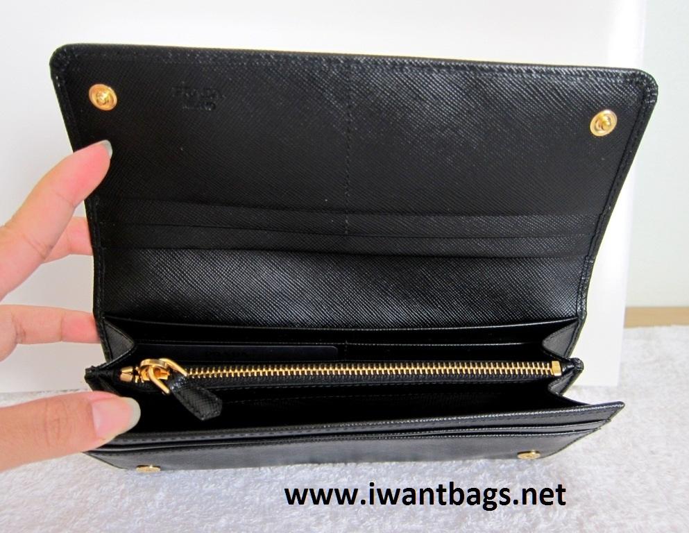 Prada Bow Saffiano Leather Continental