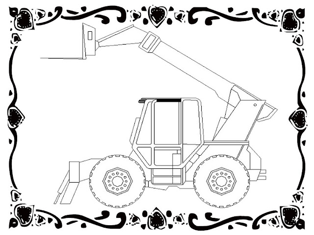 Forklift Car Coloring Pages