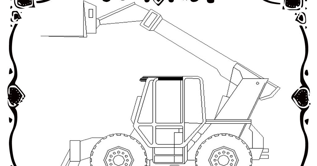 Realistic Car Coloring Pages : Forklift car coloring pages realistic