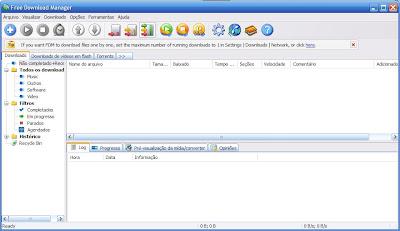 Inicio do Free Download Manager