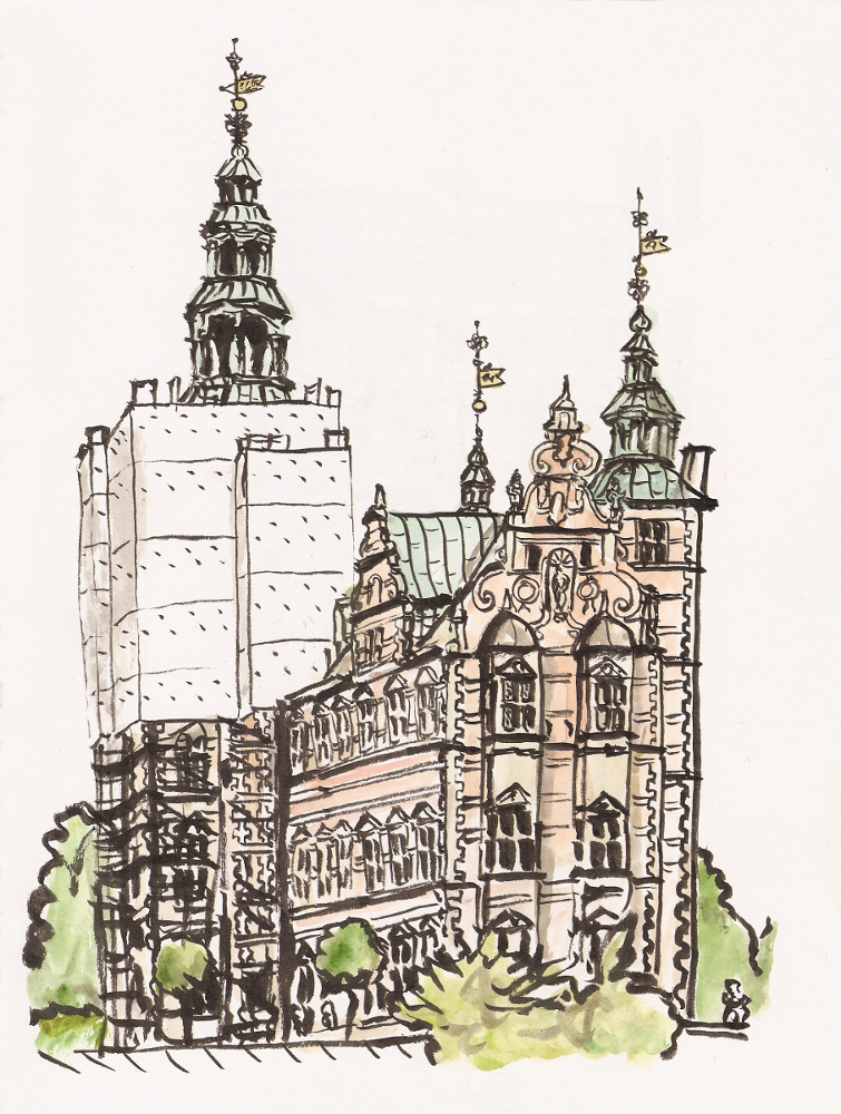 Hamlet Castle Drawing Rosenborg Castle Undergoing