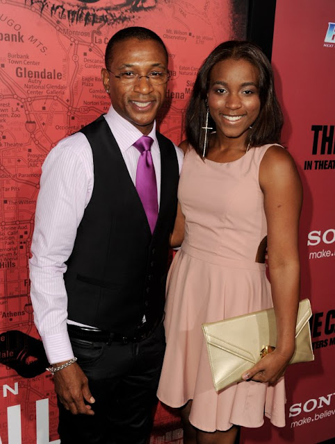 Tommy and Daughter Jillian DavidsonMorris Chestnut Daughter 2013
