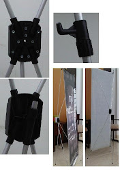 Ready Stok Kaki X Banner Aluminium Adjustable
