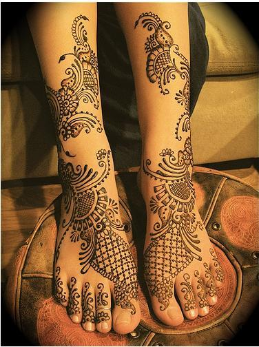 Bridal Mehndi Designs Foot  Girl Tattoos Designs Gallery