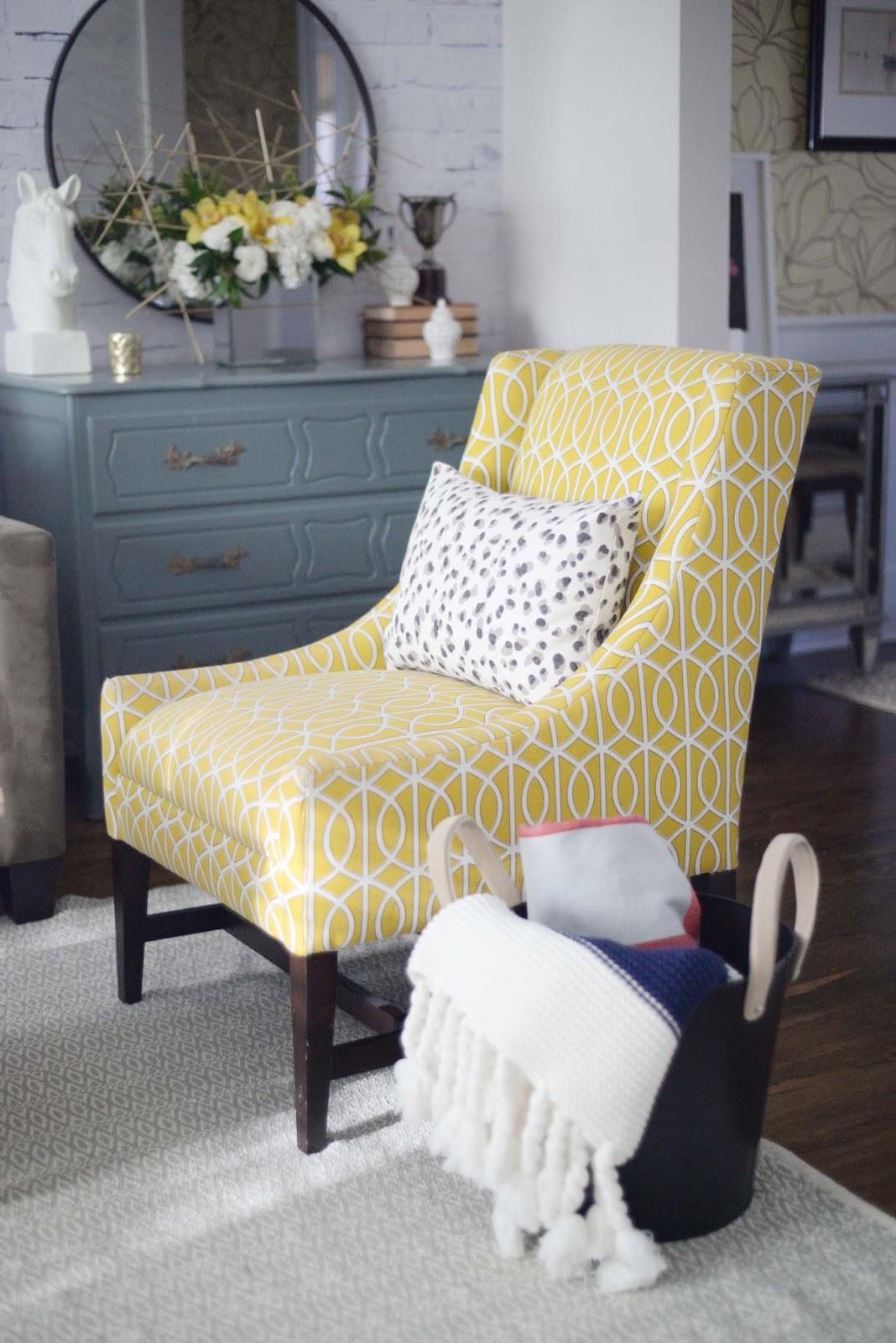 Wayfair Winter Refresh | Dwell Studio Crate & Barrel chair | RamblingRenovators.ca