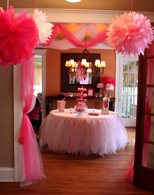 DIY Table Decorated with Tutu.