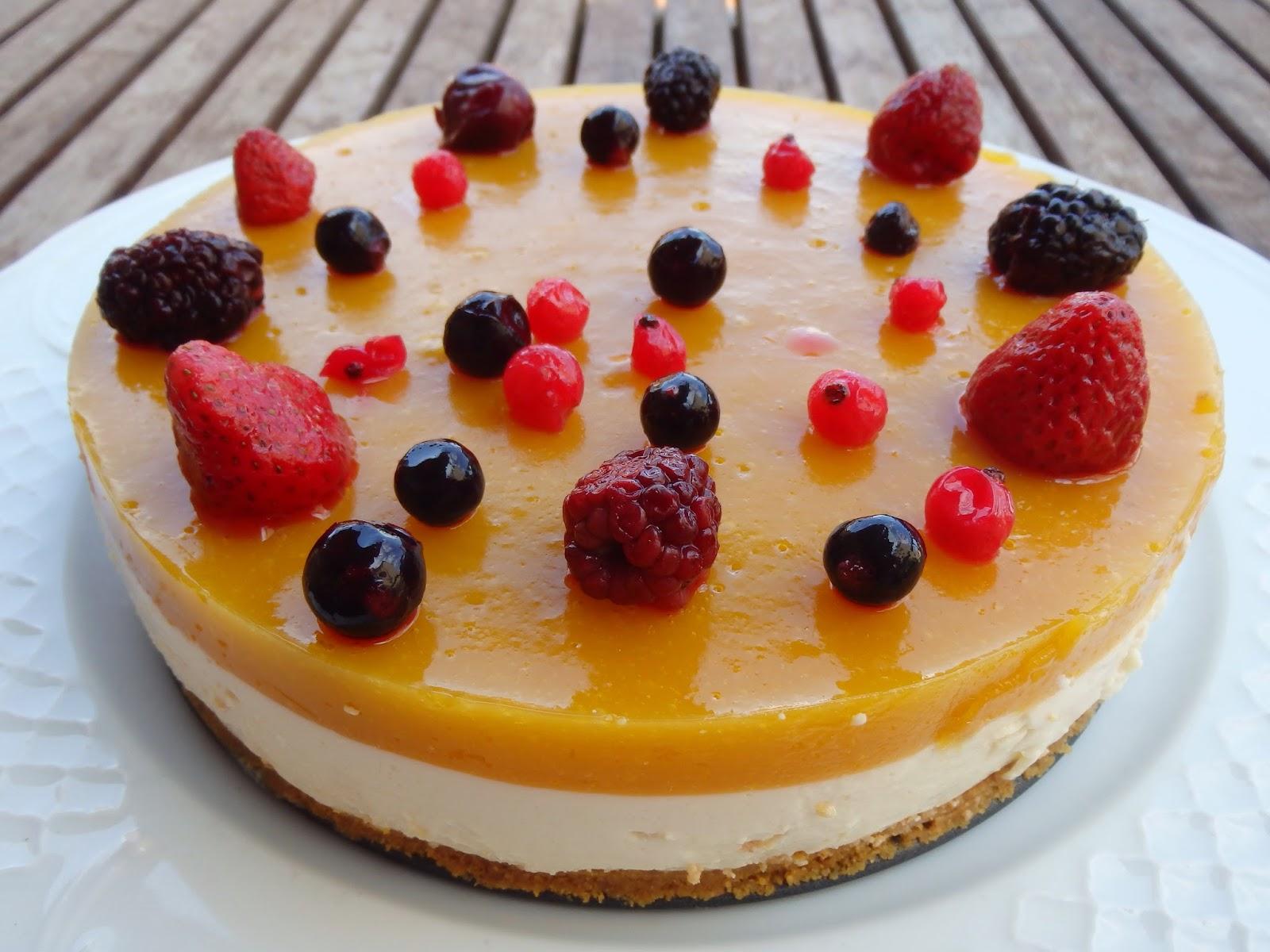 Cheese cake de mango - vainilla