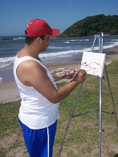 pintando em itanhaem
