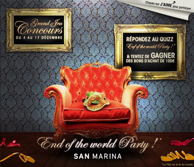 6 bons d'achat San Marina de 100 euros