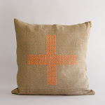 CROSS STITCHED CUSHION