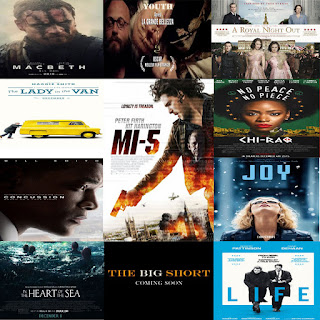 Daftar Film Rilis dan Tayang Desember 2015, Chi-Raq, Macbeth, Youth, A Royal Night Out, Life, MI-5, In the Heart of the Sea