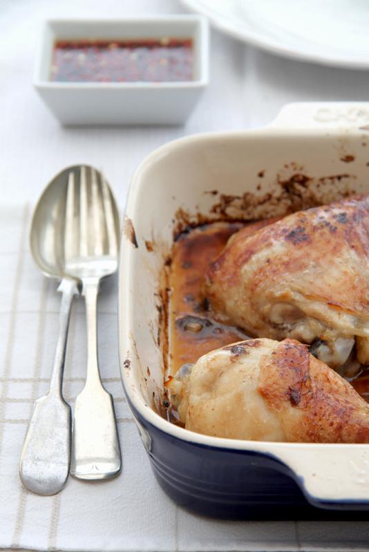 Udka z kurczaka z dipem chilli
