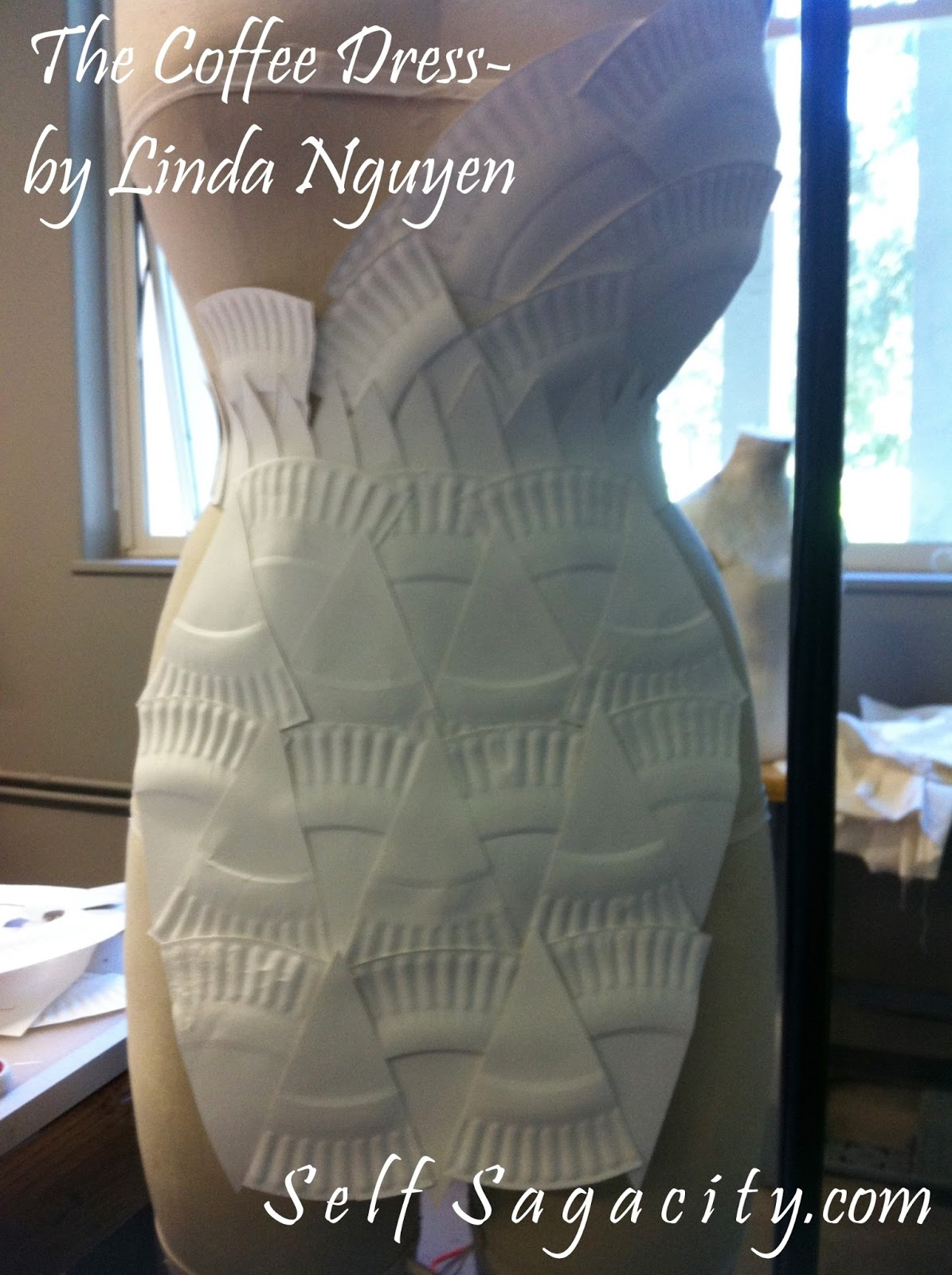Pizza Slices Paper Plates Coffee Dress - Self Sagacity