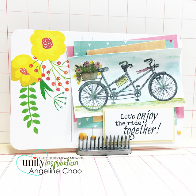 ScrappyScrappy: Let's enjoy this ride together #scrappyscrappy #unitystampco #gracielliedesign #card #distressmarker #watercolor