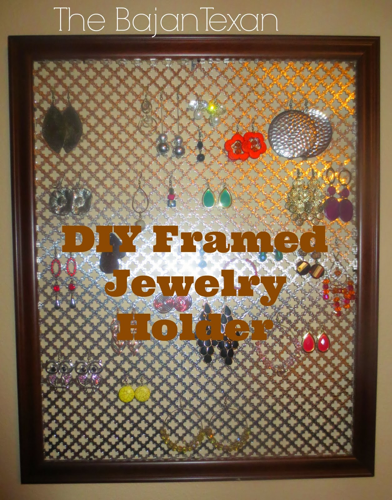DIY Framed Jewelry Holder The easiest project ever The Bajan Texan