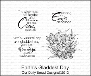 Our Daily Bread designs, Earth's Gladdest Day
