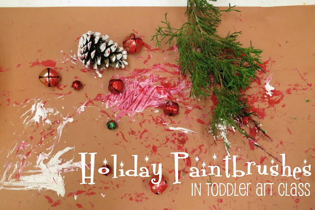 http://librarymakers.blogspot.com/2013/01/toddler-art-class-holiday-paintbrushes.html