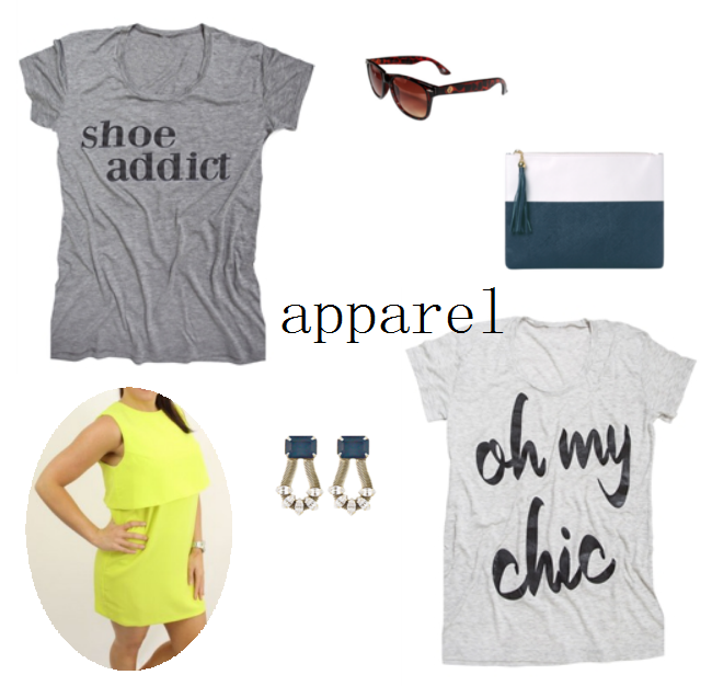 ILY couture, oh my chic t-shirt, neon dress