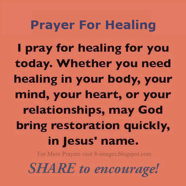 learn how to pray for healing