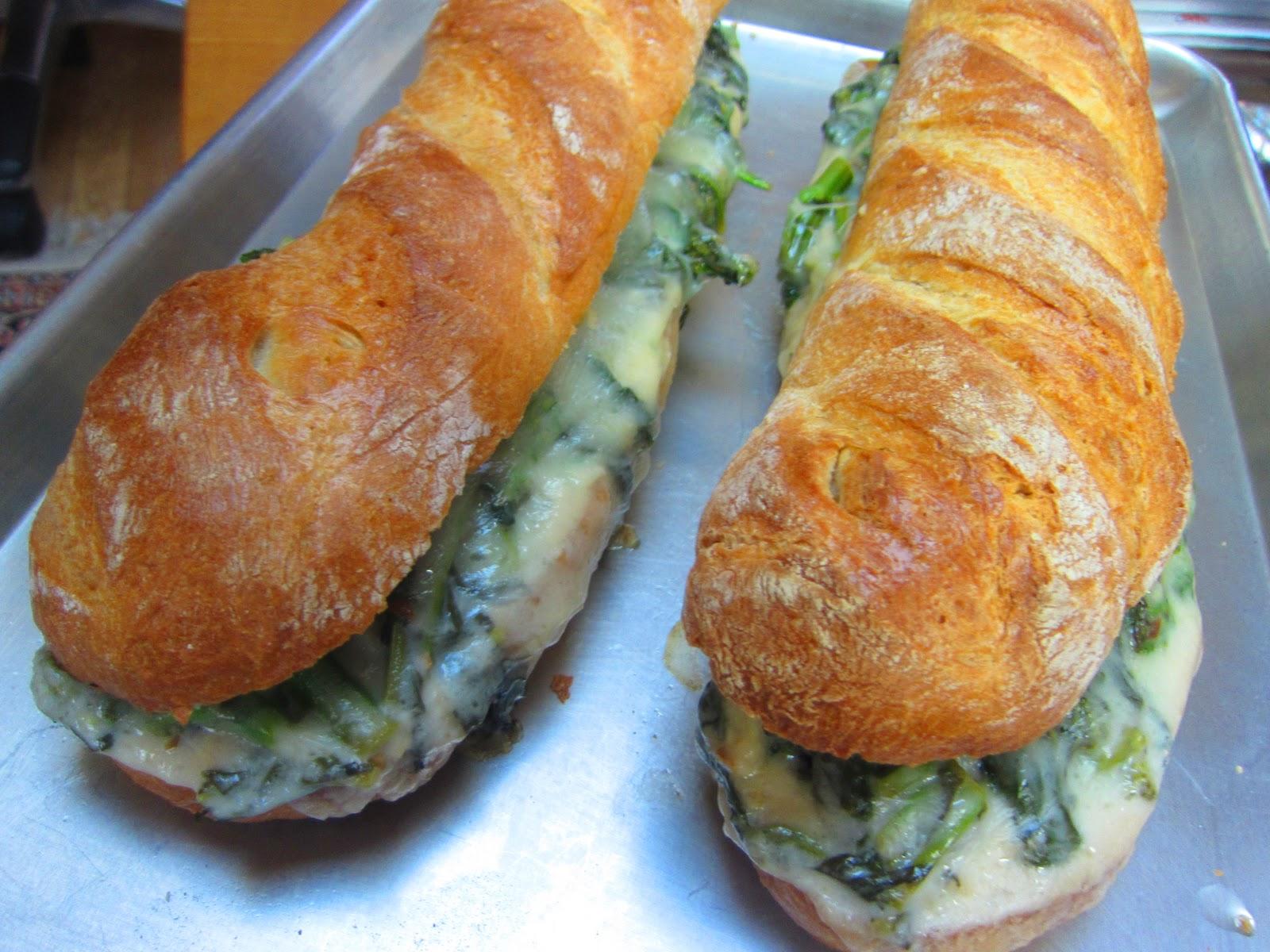 Broccoli Rabe And Provolone Grinders Recipe — Dishmaps