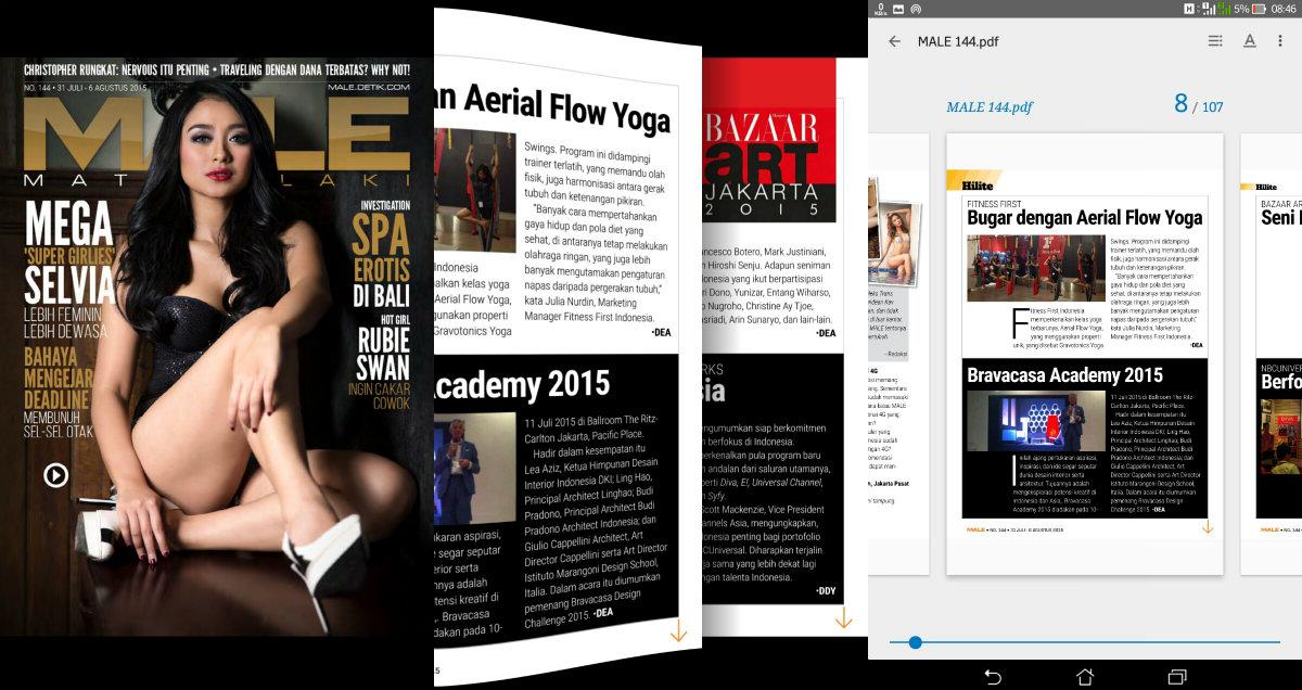 Cara Membaca Majalah MALE di Google Play Books